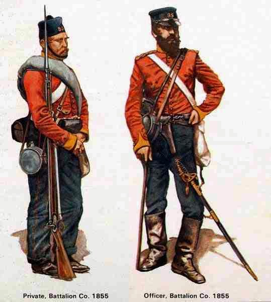 British Officer and Private