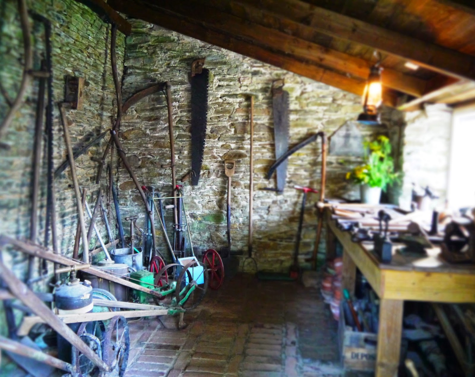 The Lost Gardens of Heligan, Cornwall - the toolshed