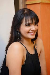 Actress Saloni Aswani Picture Gallery in Black Long Dress at (GAMA) Gulf Andhra Music Awards 2014 Press Meet  1.JPG