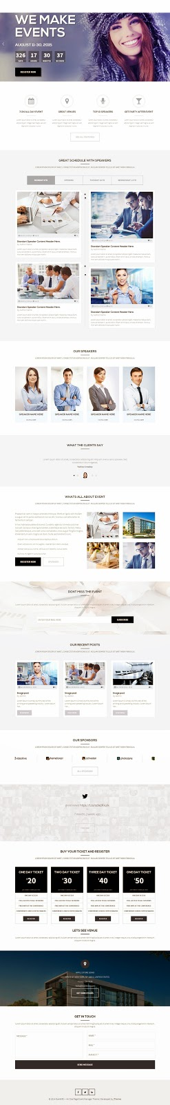 Premium Conference and Event Website Theme