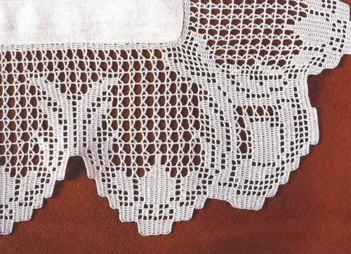 Professione donna schemi per il filet bordure per centri for Bordure per tovaglie all uncinetto