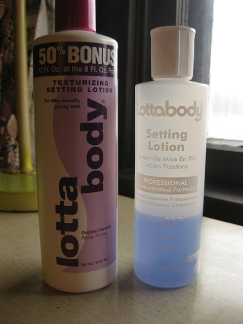 setting lotion to use for a pin curl set