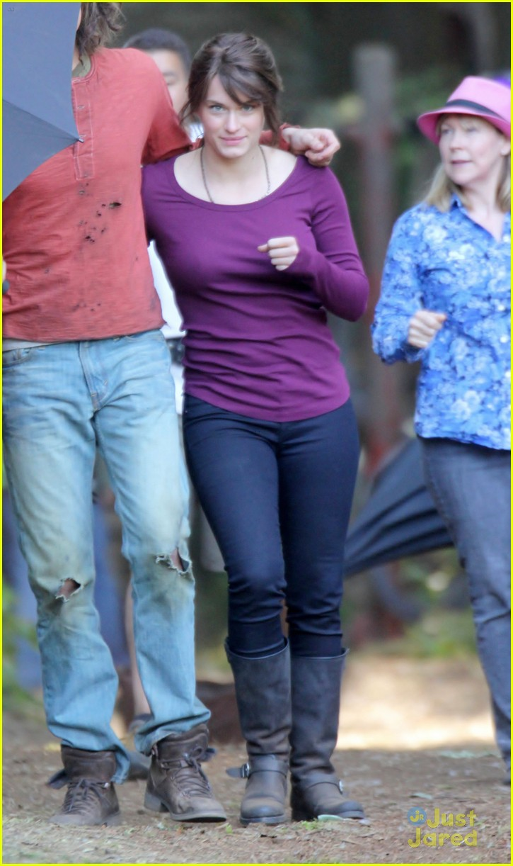 Leven Rambin and Stanley Tucci on the Set of Percy Jackson and The    Leven Rambin Clarisse