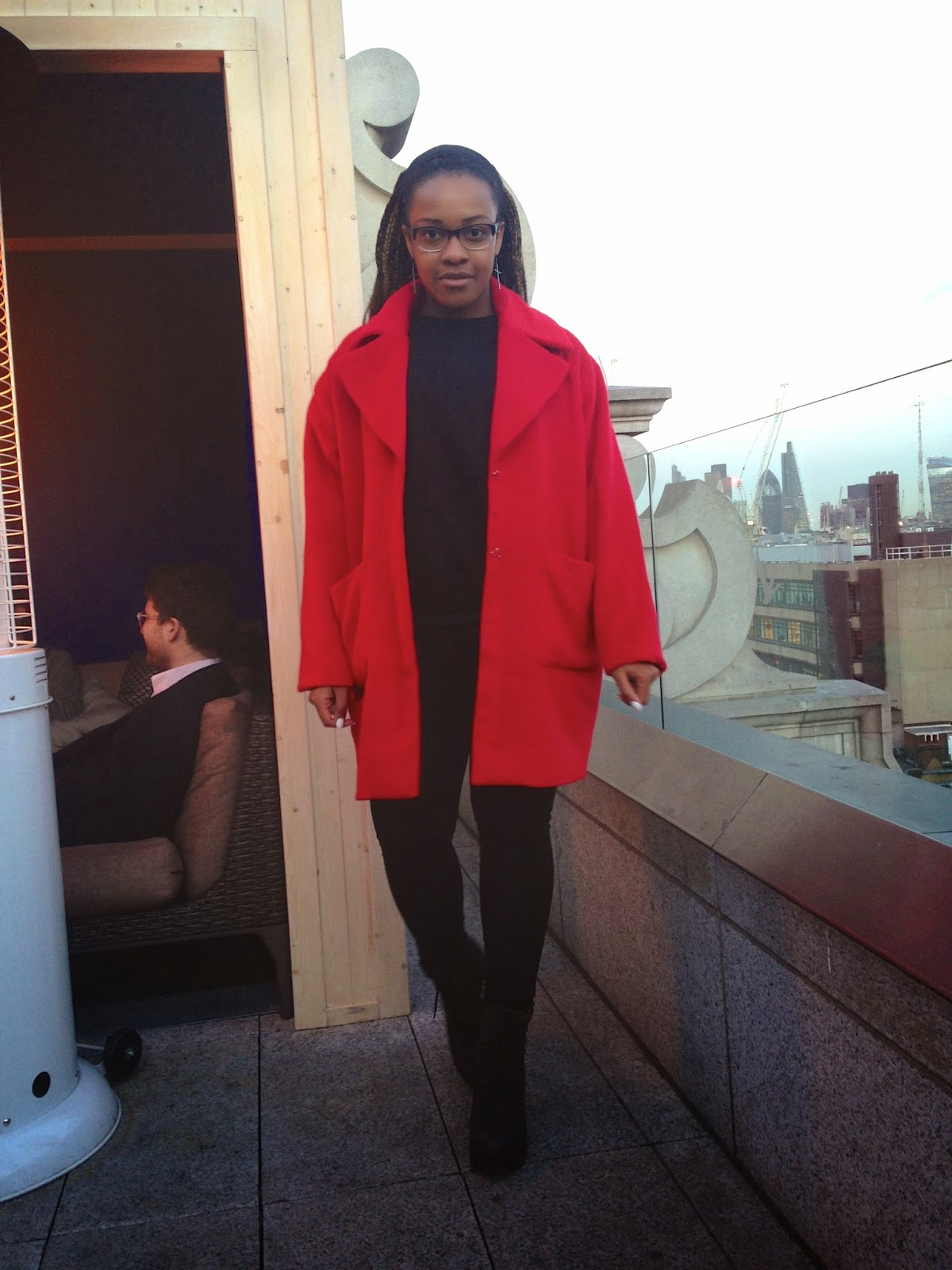 La Mode D'Emm MissGuided Oversized Red Cocoon Coat