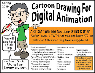 Spring Cartoon Drawing for Digital Animation
