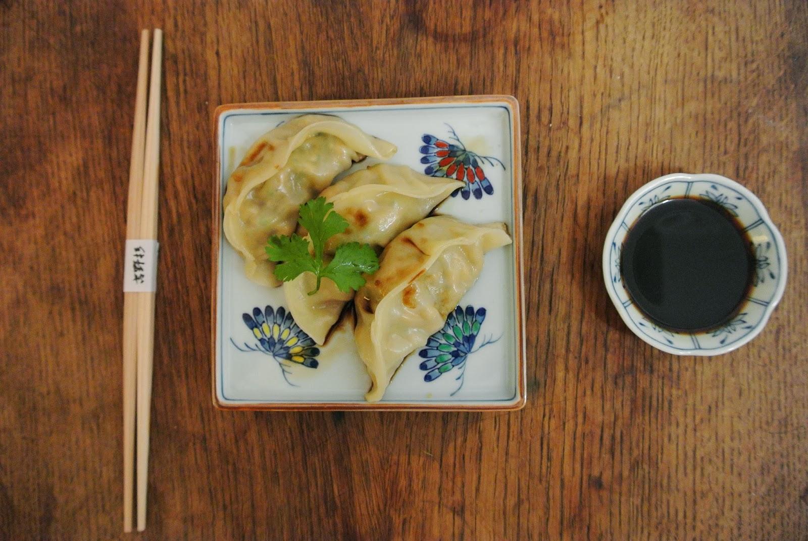 dumplings de calabacin y tofu