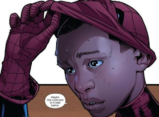 el nuevo spiderman de raza negra y latino