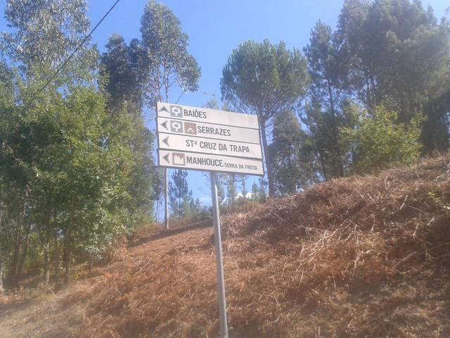 Placas indicação Parque campismo Serrazes