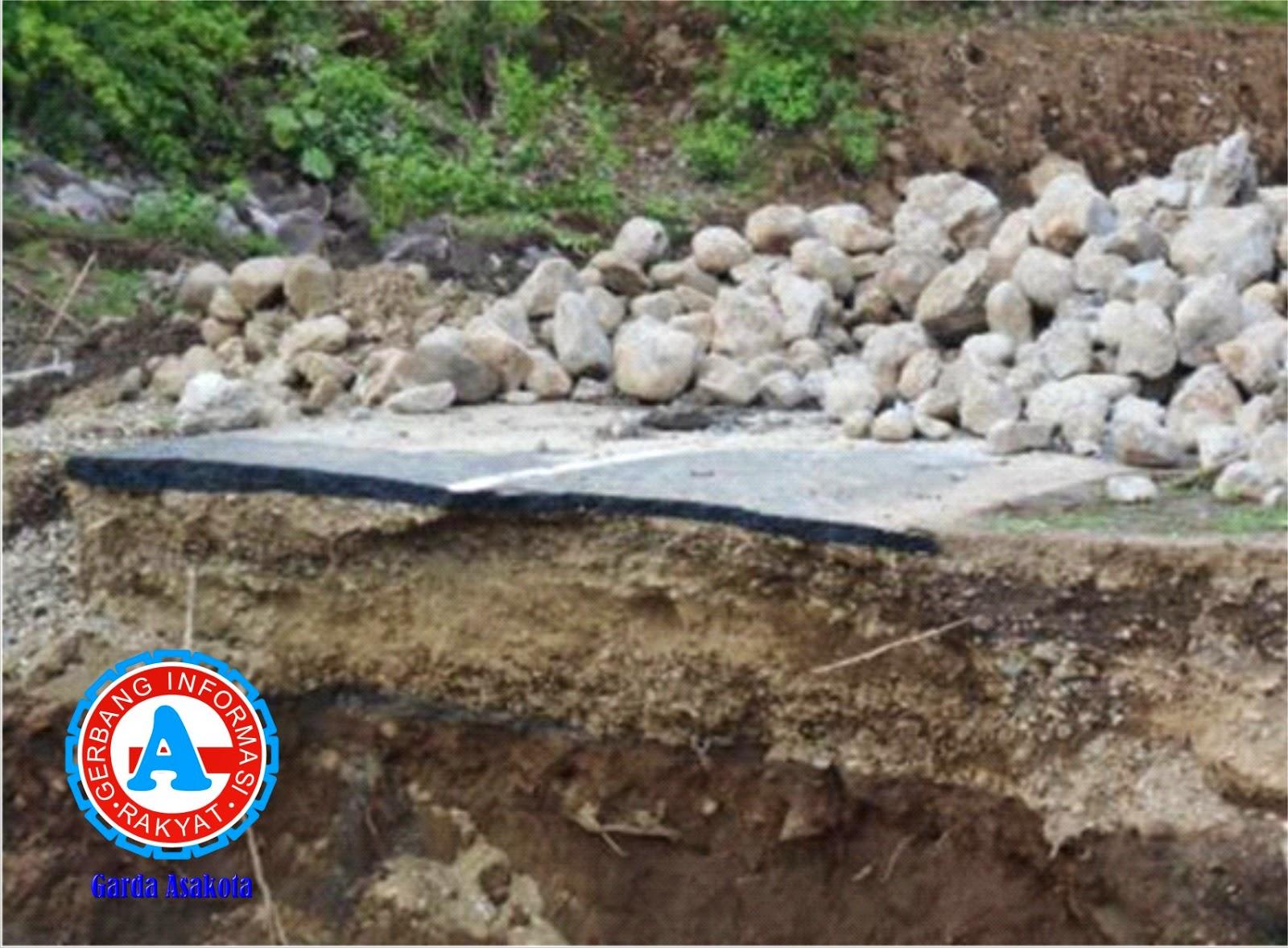 Proyek APBD-1 di Desa Sowa Belum Diperbaiki
