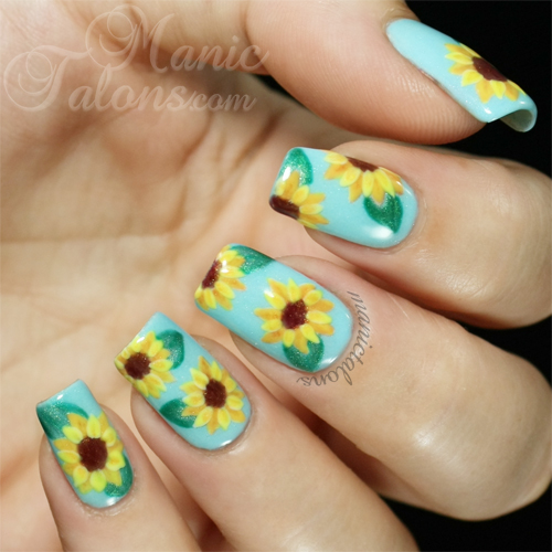 Sunflower Manicure with Couture Gel Polish