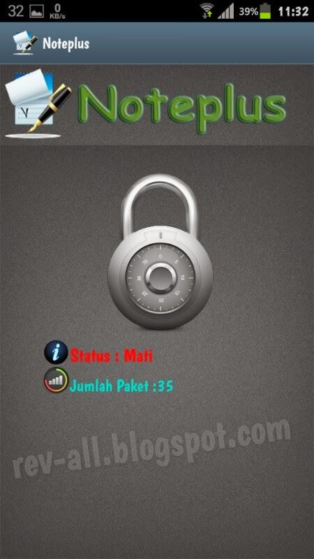 Tampilan utama Noteplus - aplikasi android untuk menyadap sms dapat digunakan untuk mengawasi anak (rev-all.blogspot.com)