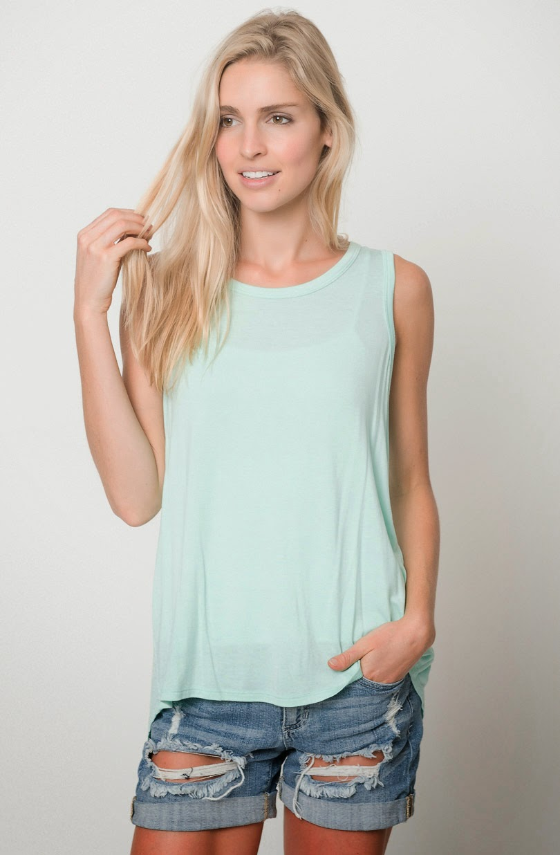 Buy online cheap tulip back tank for women on sale at caralase.com