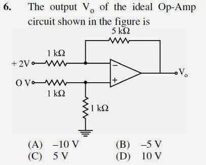 2012 June UGC NET in Electronic Science, Paper II, Question 6