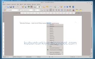 Kubuntu Zemberekli LibreOffice