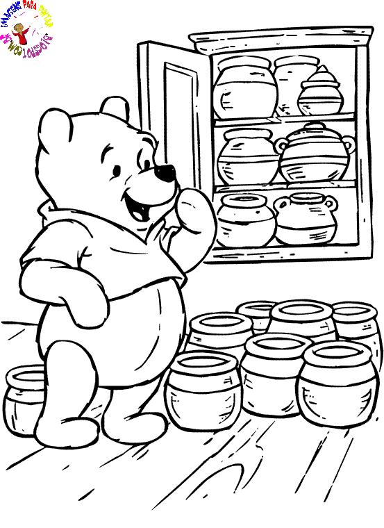Colorir Ursinho Pooh desenhar