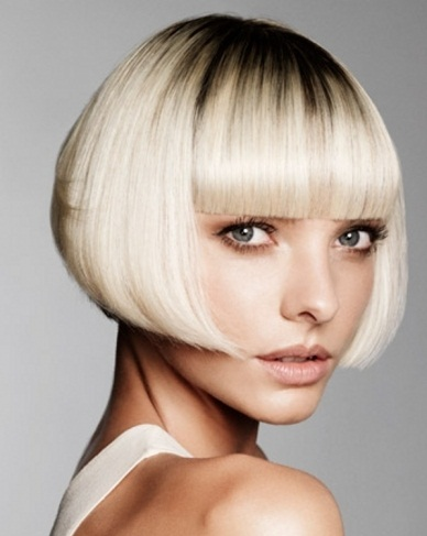 Chic Blunt Bob Hairstyle 2014