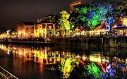 Imagens de Fundo: Imagem de FundoMargem de rio iluminada (margem de rio iluminada imagens imagem de fundo wallpaper para pc computador tela gratis ambiente de trabalho)