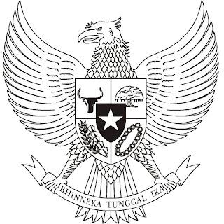 logo garuda pancasila hitam putih