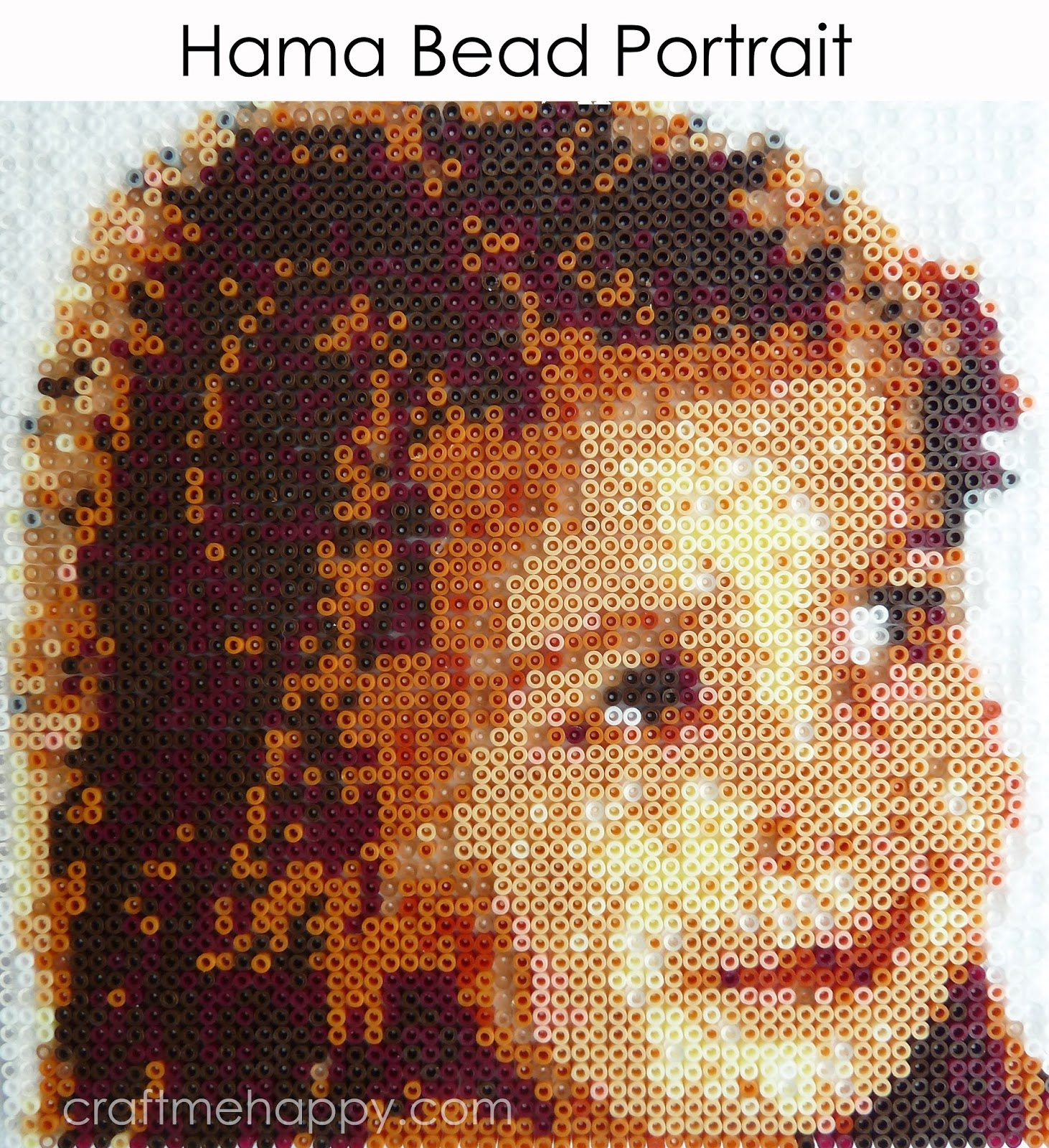 How to create your own Hama bead portrait | Craft me Happy!: How to ...