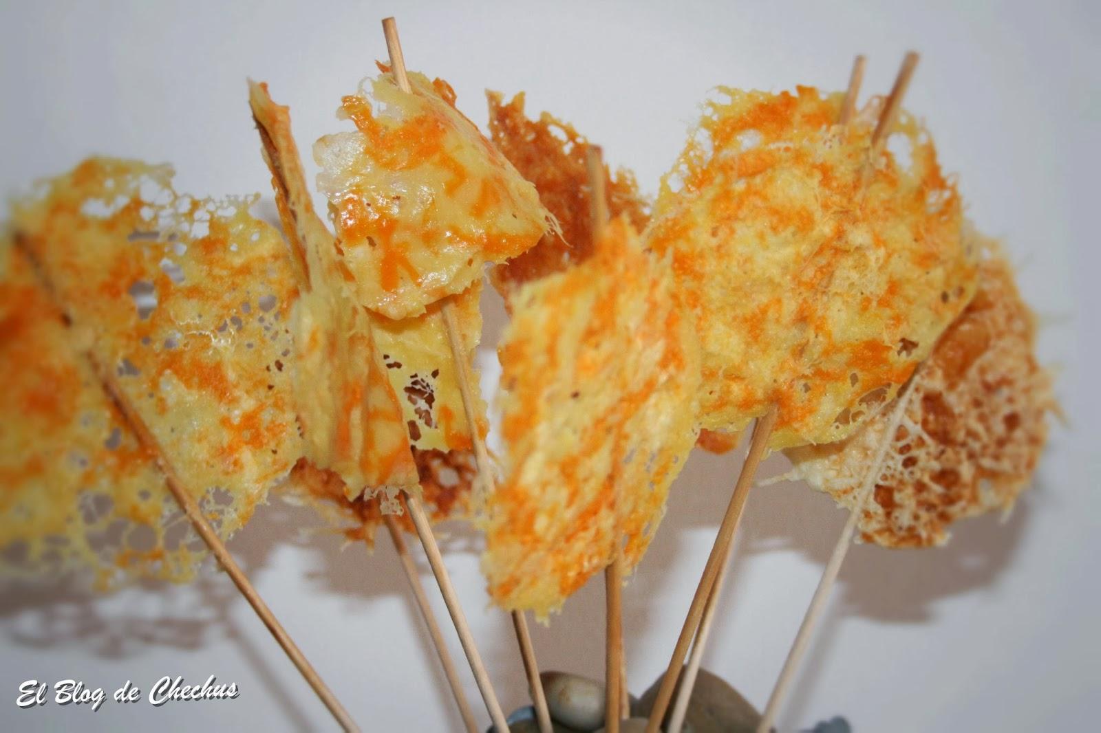 Piruletas de queso, El Blog de Chechus, Chechus Cupcakes, Aperitivos