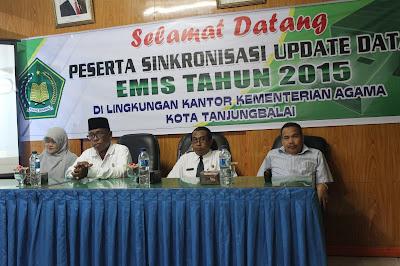 Sinkronisasi Update Data EMIS Pendidikan Madrasah Tahun 2015