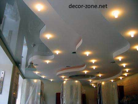 stretch ceiling designs for living room, stretch ceiling lights