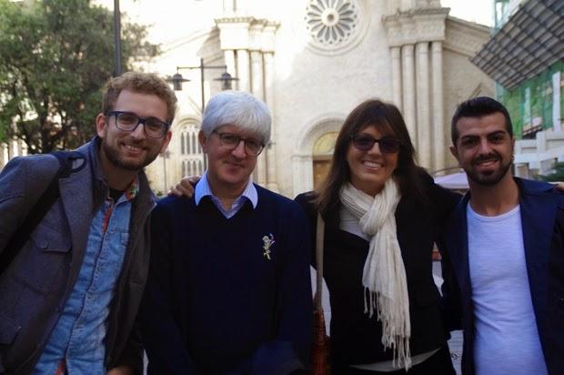 Da sinistra: Dante Castellano, Beppe Severgnini, Anna Masera, Manuel Santoro
