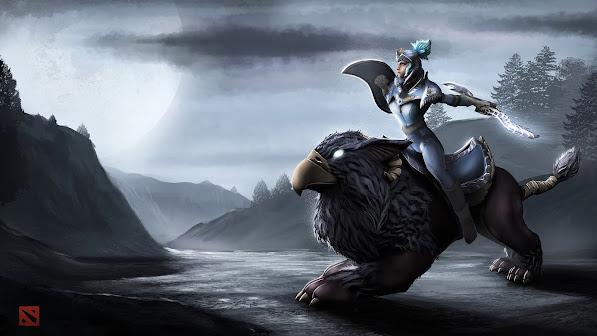 luna moon rider 3d girl dota 2 game