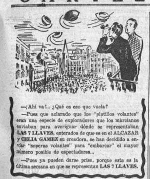Chiste publicado por la Hoja del Lunes de Madrid