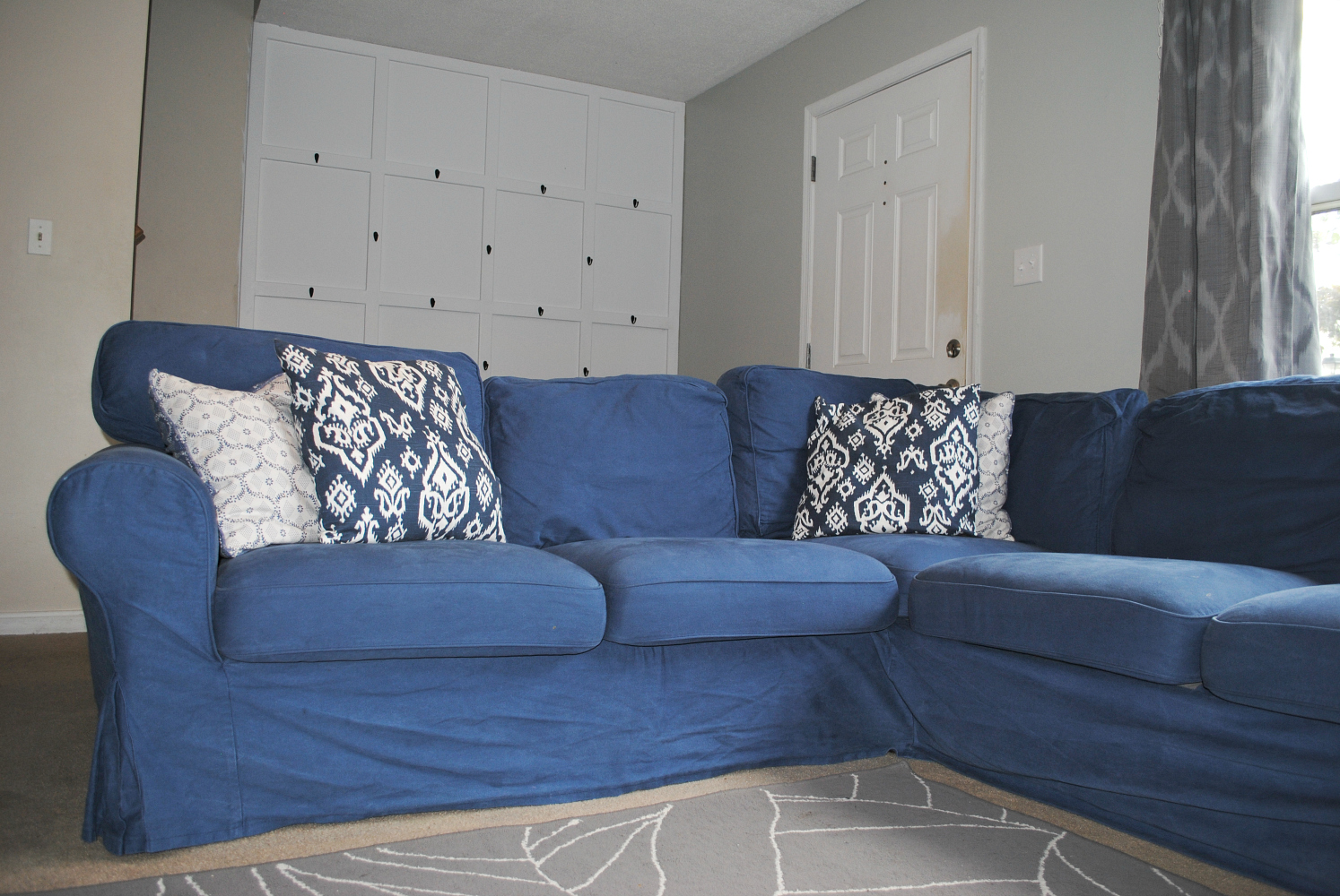 new slipcovered slipcover pcok for ikea sectional a my co slipcovers