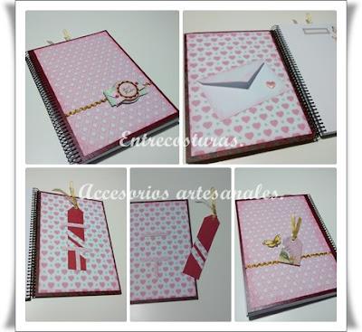 Cuadernos scrap 03. Entrecosturas. Accesorios artesanales.