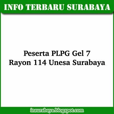 Daftar Nama Peserta PLPG 2013 Gelombang 7 Rayon 114 Unesa Surabaya