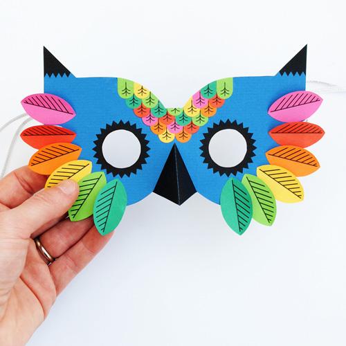 My Owl Barn Beautiful Owl Paper Mask