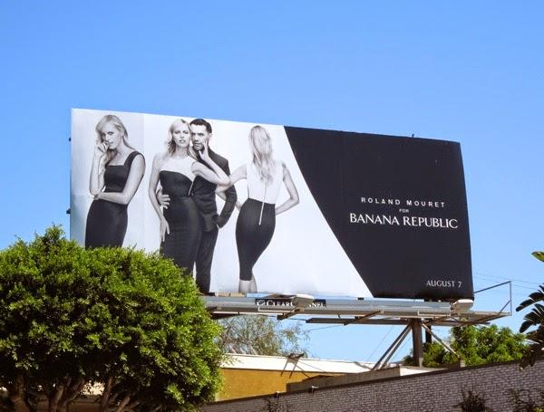 Roland Mouret Banana Republic Aug 2014 billboard