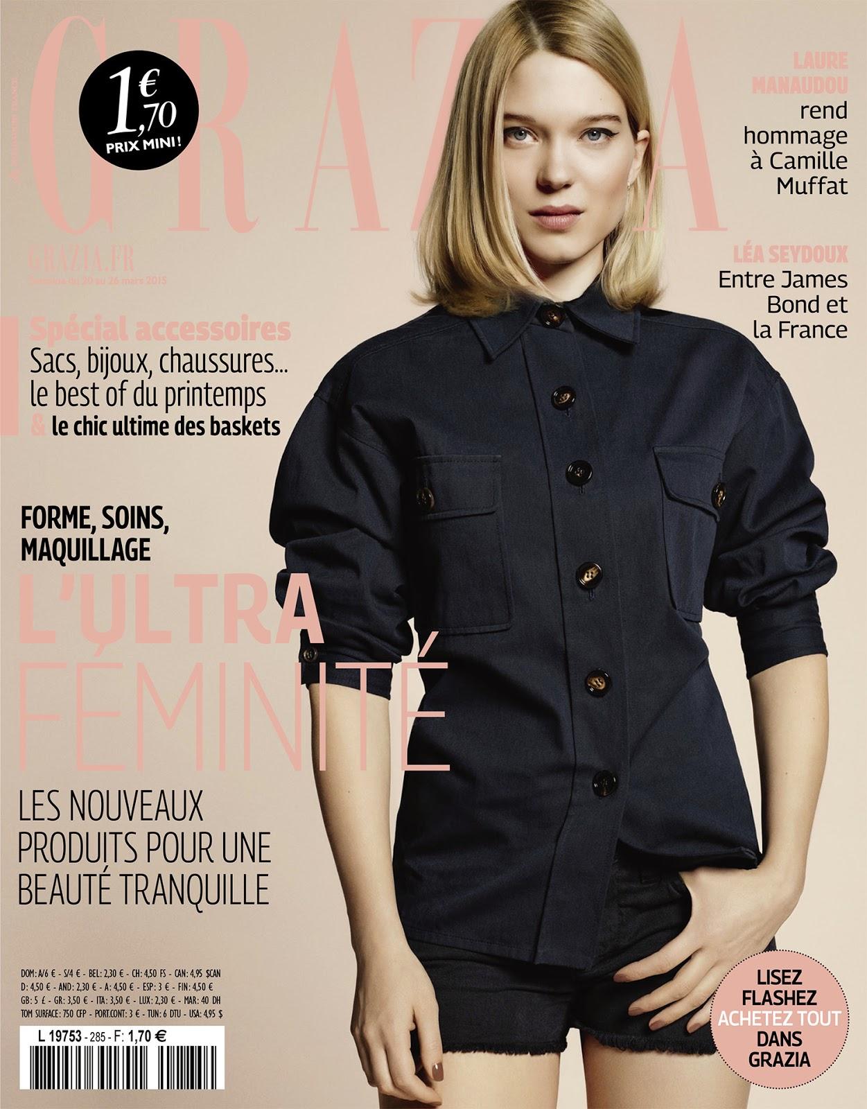 Actress @ Léa Seydoux by Lauren Humbert for Grazia France, March 2015
