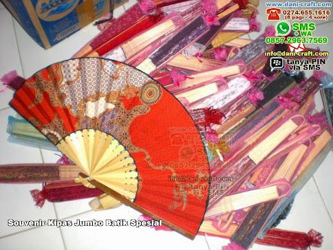 Souvenir Kipas Jumbo Batik Spesial Bambubatik Mataram Ntb