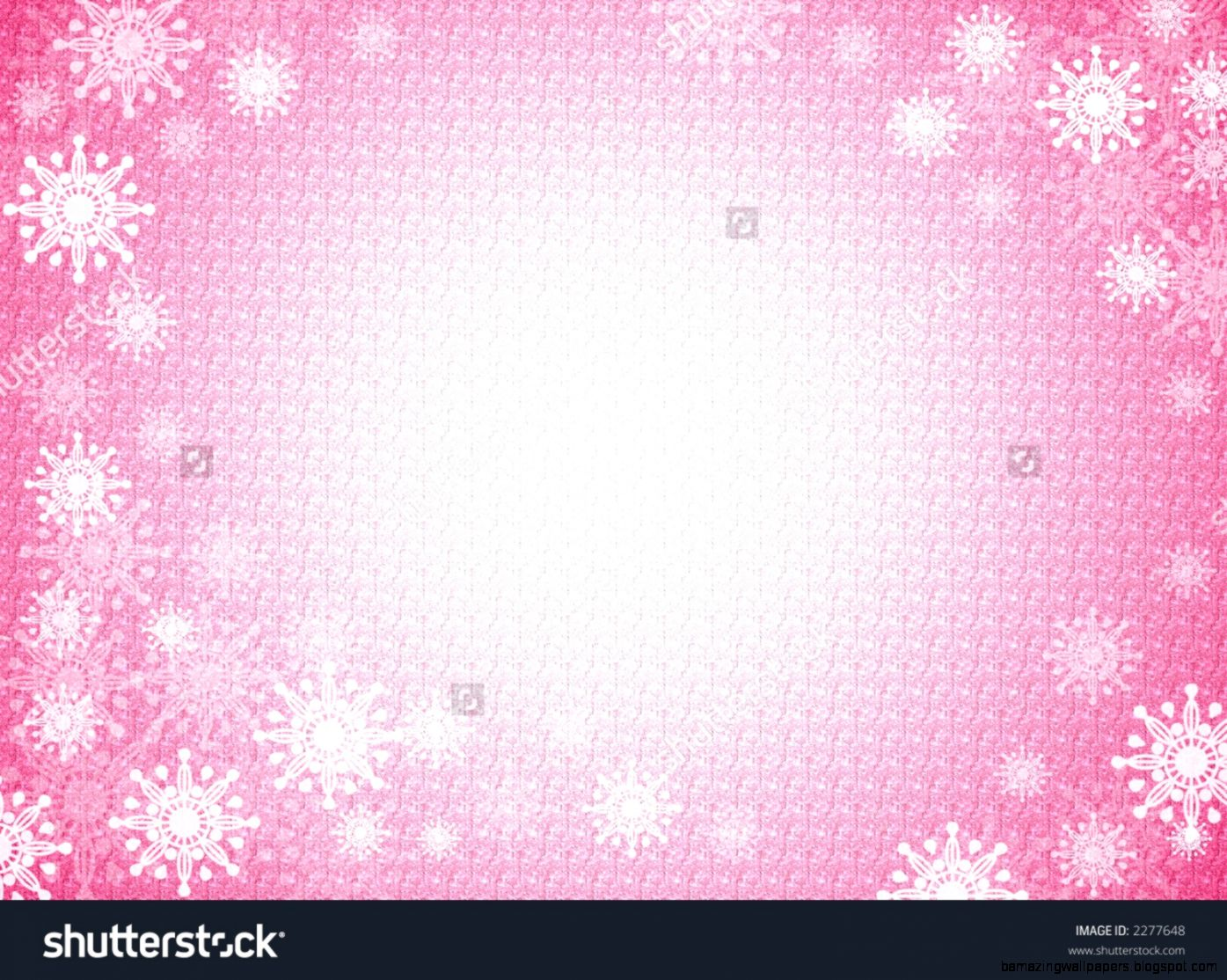 Pink Winter Snowflake Background And Frame Stock Photo 2277648