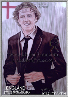 STARS ENGLAND STEVE MCMANAMAN Portrait Drawing Soccer Football Khaled3Ken Gallery