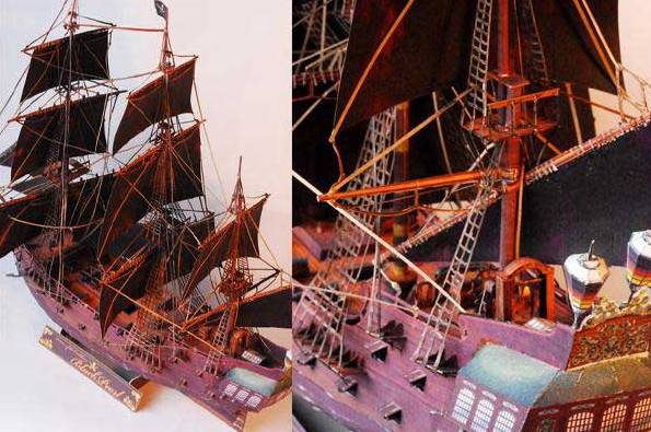 3D Paper craft Pirates Of The Caribbean The Wicked Wrench Black Pearl