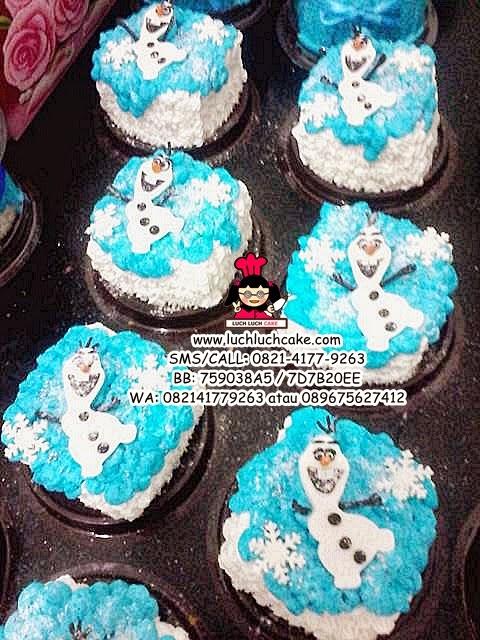 Mini Cake Souvenir Ultah Frozen Olaf daerah surabaya - sidoarjo