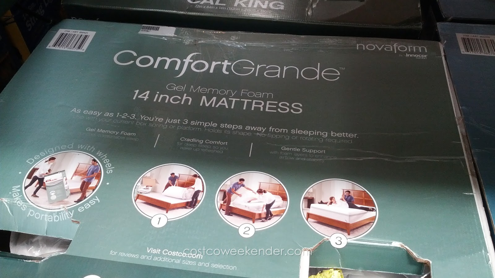 novaform 14 comfort grande gel memory foam king mattress. innocor comfort novaform comfortgrande cal king mattress for a good night\u0027s rest 14 grande gel memory foam