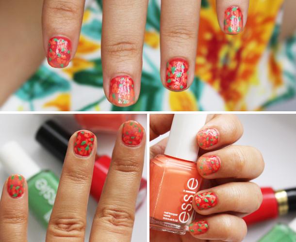 spring nail floral ombre gradient designs nail polish trends walgreens essie revlon mojito madness serial shopper