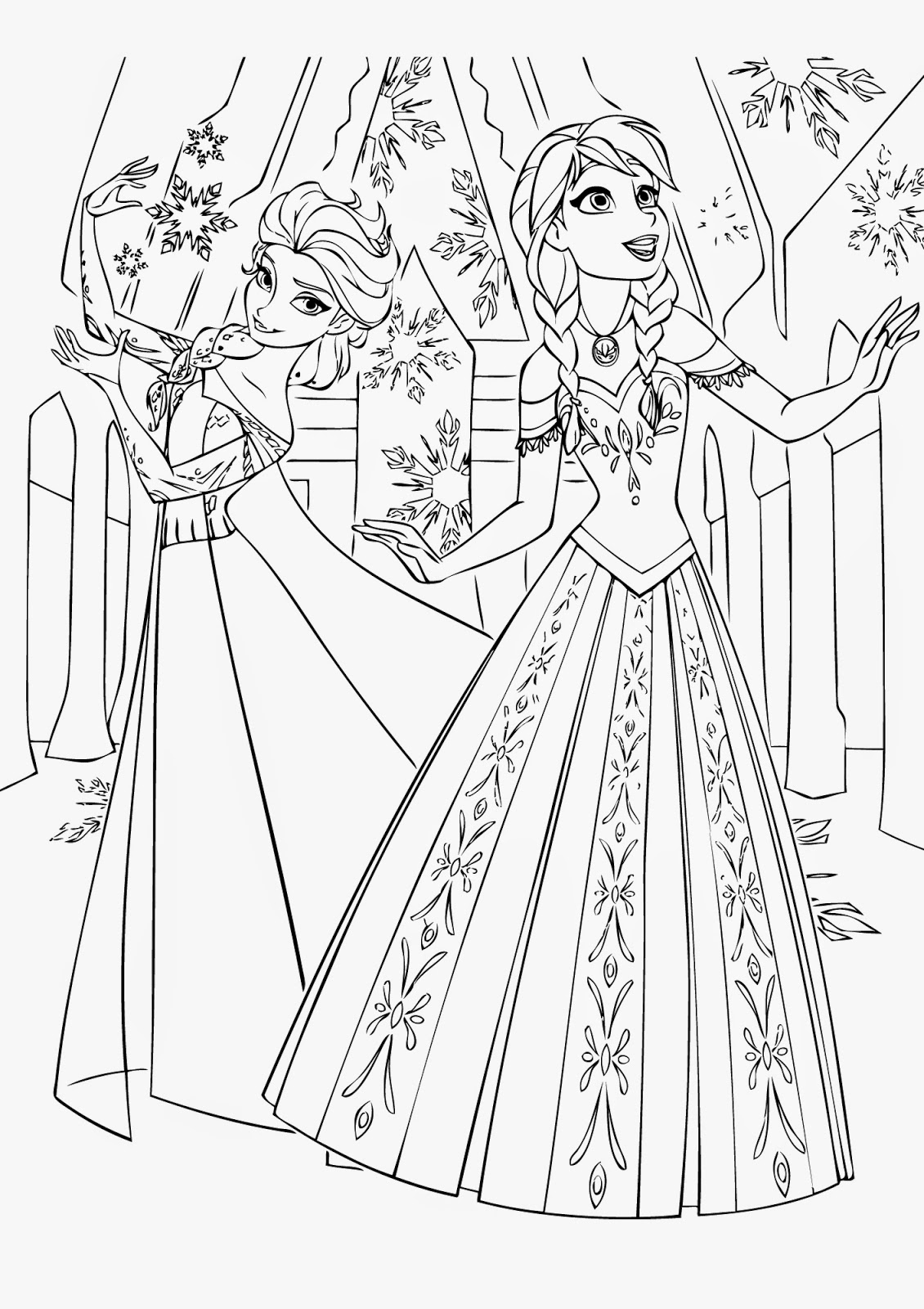 Find 16 Awesome Frozen Coloring Pages To Print Instant Printable Coloring Pages For Frozen Free