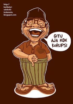 Gus Dur - Karikatur Selebriti Indonesia