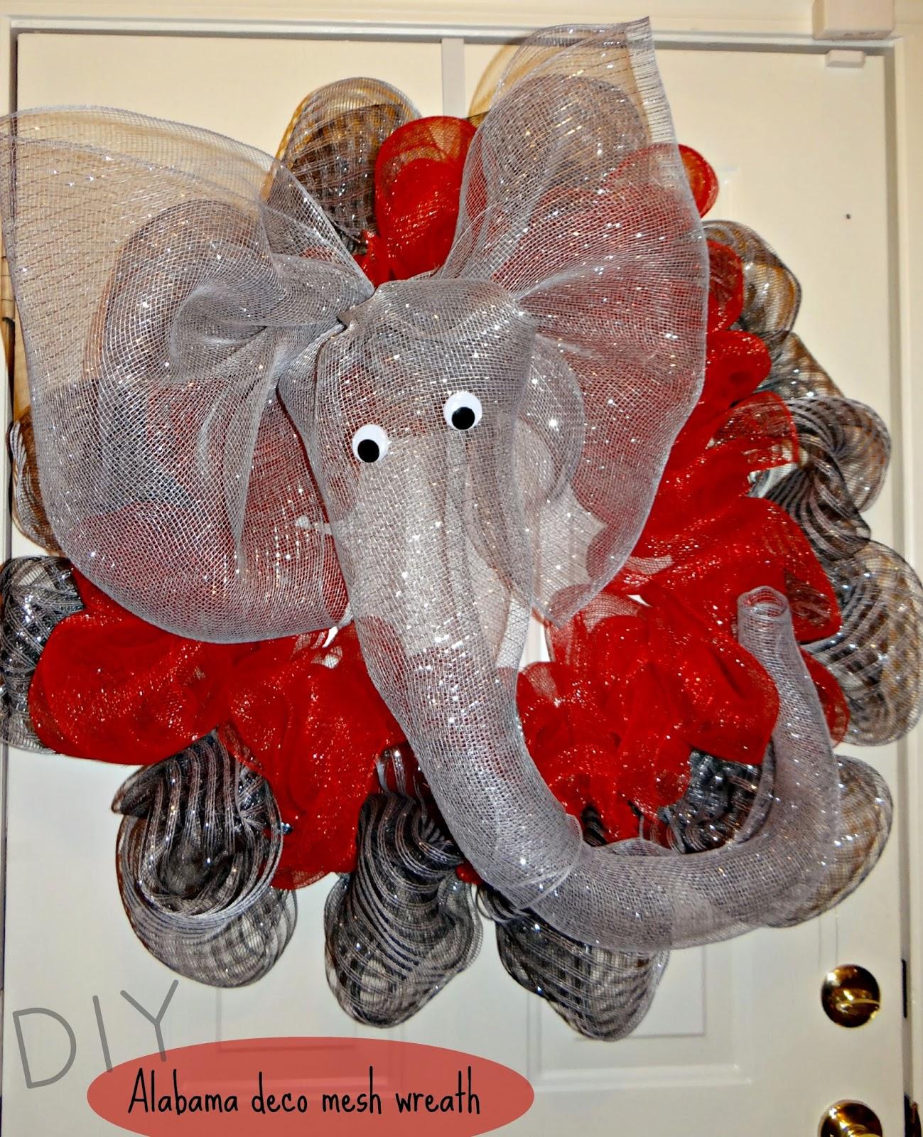 Creating Sunshine: DIY Alabama deco mesh wreath