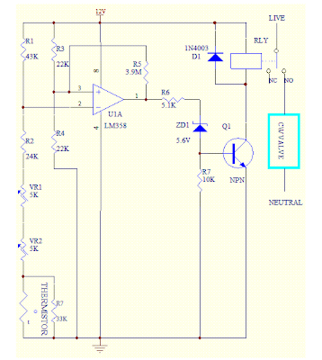 Room Thermostat circuit