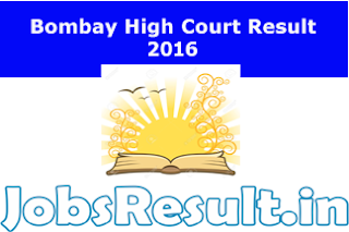 Bombay High Court Result 2016