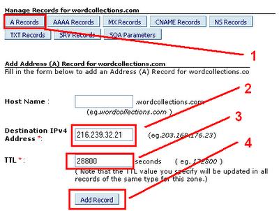 Setting DNS Custom Domain untuk blogspot