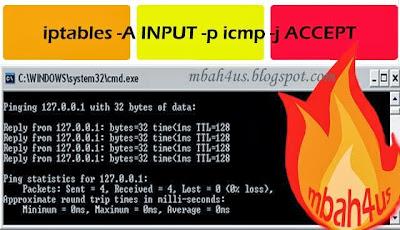 Iptables, Konfigurasi Lalu Lintas Protokol ICMP