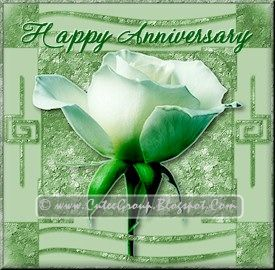 Green Rose extra including Happy Anniversary